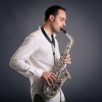❤❤❤ Classy Saxophone Neck Strap Hook Black Adjustable Leather