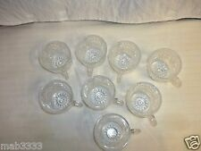 L E Smith Eight (8) Slewed Horseshoe/Pinwheel  Punch Cups Shooting Stars Exc Con
