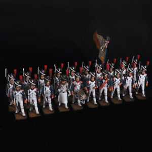 Tin Soldier, Grenadiers of the French Old Guard, on the march, (20 miniatures)