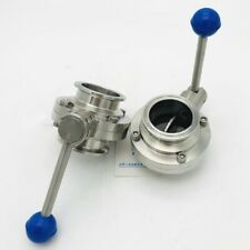 """3"""" Sanitary Stainless Steel 304 Pull Handle Tri Clamp Butterfly Valve"""