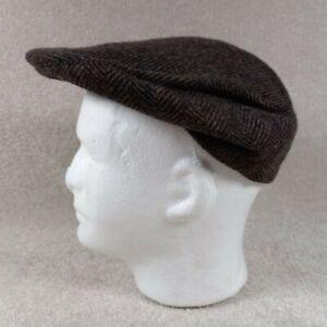 Finest Headwear Men's XL 7 1/2 - 7 5/8 Newsboy Cap Brown Herringbone Pure Wool