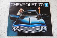 Prospekt CHEVROLET Caprice, Impala, Monte Carlo, Bel Air, Chevelle, Nova 1970