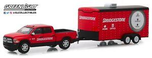 1:64 GreenLight *HITCH & TOW 17* Bridgetone Dodge Ram 2500 Enclosed Trailer NIP!