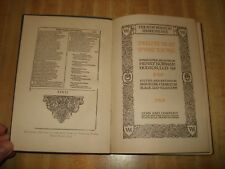 Awesome 1911 Antique book – Shakespeare Twelfth Night or What You Will