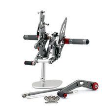 Commandes reculées Rearset Foot pegs Pour Honda CBR1000RR 2008-2012 2011 Gray FR