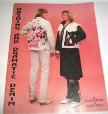 1990 BOOK SOFTCOVER DASHING DRAMATIC DENIM BEADING APPLIQUE TRANFERS BOOK