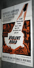 VIOLENT ROAD original 1958 one sheet 27x41 movie poster BRIAN KEITH/MERRY ANDERS