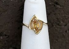 14K GOLD CITRINE PINKY RING SIZE 2.5