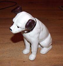"SUPERB HEAVY CAST IRON HMV HIS MASTERS VOICE DOG MONEY BANK 6"" TALL"
