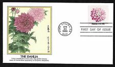 #1878  18c Flower Issue - The Dahlia - Fleetwood  FDC
