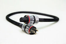 Audiophile PCOCC High-Current Power Cord - RAMM Audio - 1 meter NEMA/IEC Plugs
