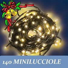 NATALE LUCI 140 MINILUCCIOLE LUCE GIALLA CALDA LAMPADINE ALBERO PRESEPE