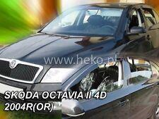 SKODA OCTAVIA II 4/5D  2004 - 2013 SALOON / HB  Wind deflectors 4.pc  HEKO 28317
