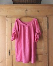 CP Shades~ Pink~ 100% Linen~ 3/4 Sleeve Blouse~ Sz M~ EUC