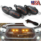 4x Raptor Style Amber Led Lamp Front Grill Light Kit For 2016-2019 Toyota Tacoma