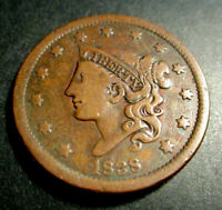 Large Cent  Coronet Head 1838