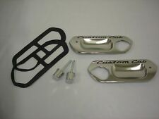 1961- 1966 Ford Pickup Truck Custom Cab Door Handle Plates w/ Push Buttons NICE!