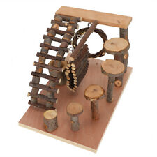 Natural Applewood Ladder Step Fitness Exercise Chew Toy For Hamster Pet(Lifting