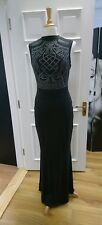 Long black evening dress size 12