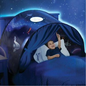 Kids Dream Tents Foldable Space Adventure Pop Up Playhouse Double Single Bed UK