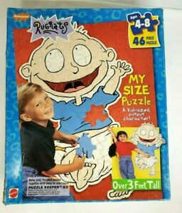 Vintage 1997 Nickelodeon Rugrats TOMMY PICKLES My Size 46pc Jigsaw Floor Puzzle