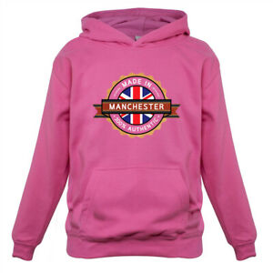 Made In MANCHESTER 100% Authentic - Kids Hoodie United Utd Town MCGC Hometown