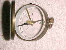 WEST GERMANY  -  BRASS WWII LOCKING COMPASS with COVER