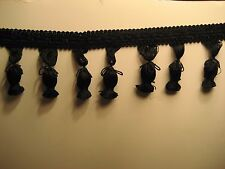 25 YARDS TASSLE TRIM BLACK NEW  MUST SEE  BEAUTIFUL DETAIL