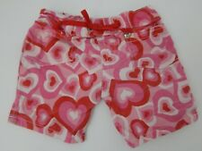 Build A Bear ~ Red, Pink & White Heart Designs Pants