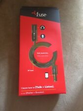 *~Fuse Mic Adapter With Call Control For 3.5 Headphone - 7202 - Black NEW