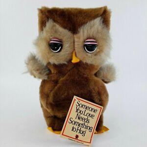"VTG The RUSHTON Company Plush Stuffed Owl 11"" Doll 1978 RARE w/ TAGS NEW"