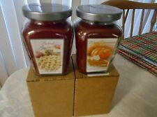 2- Home Interiors 7.5 Oz. Baked Apple Pie & Warm Cinnamon Pumpkin Candle Jars