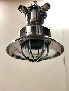 Original Large Reclaimed Merchant Ships Explosion Proof Pendant Light with Shade