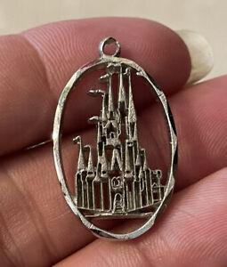 Vintage Sterling Silver Disney Sterling Walt Disney World Castle Charm/Pendant