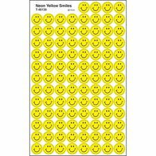 Neon Yellow Smiles superSpots® Stickers Trend Enterprises Inc. T-46139