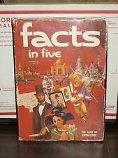 FACTS IN FIVE:THE GAME OF KNOWLEDGE Board Game 3M Bookshelf Games 1967 Adult