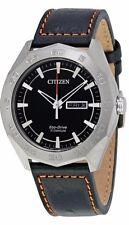 Citizen AW0060-03E Eco Drive Super Titanium Black Dial Steel Case Men's Watch