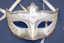 Silver Glitter Half Face Venetian Style Masquerade Ball, Party Carnival Mask
