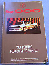 1990 pontiac 6000 owners manual used original with case very clean