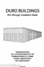Duro Steel Metal Building Self Storage Erection DIY Construction Manual on CD