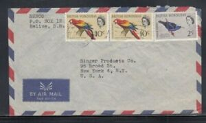 BRITISH HONDURAS Commercial Cover Belize City to New York City 28-11-1967 Cancel