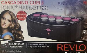 Revlon Perfect Heat Ionic Hairsetter Cascading Curls Electric Hair Curler Set