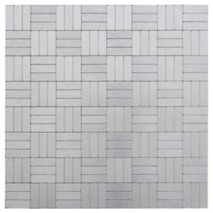 Peel and Stick Modern Rectangle Grey Metal Mosaic Tile Backsplash Wall MTO0228