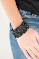 Paparazzi Jewelry Bracelet ~Crush Rush Black~NWT - 3438