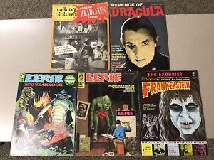 Eerie, Castle Of Frankenstein, Revenge Of Dracula Classic Horror Magazine Lot