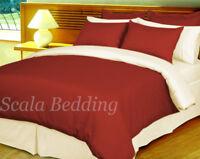 100% Egyptian Cotton 1000TC 3 Piece Reversible Stripe Duvet Cover All Size/Color