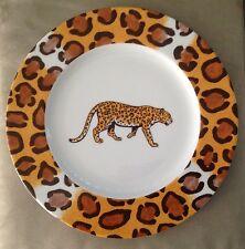 "Limoges France Patricia Deroubaix Porcelain Leopard Dinner Plate 10.5"""