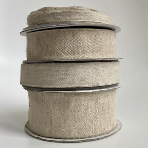 1M Cotton Linen / Hemp Ribbon Trim Natural Cotton Tape Rustic Decor Wedding