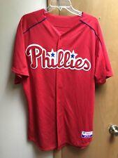 2015 Philadelphia Phillies #58 Daniel Brito Size 46 Authentic Majestic Baseball