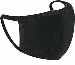 Washable Face Masks Reusable Adjustable Ladies/Mens/ Face Covering Mask Black